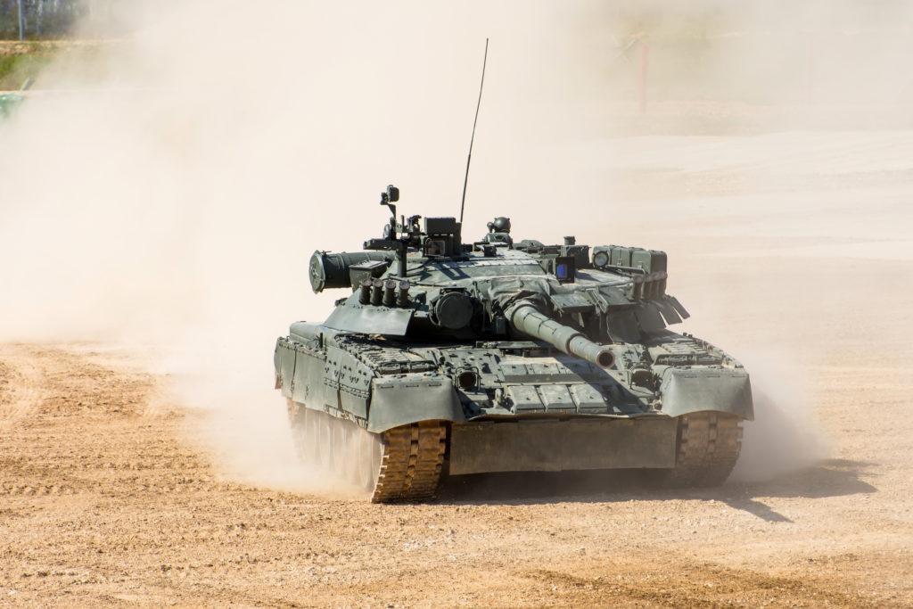 A military tank.