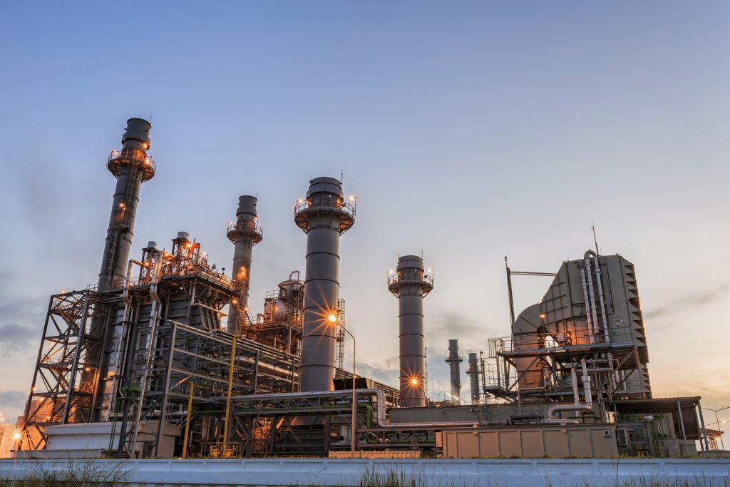 A gas turbine electrical power plant.